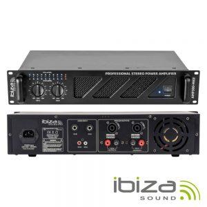 """Amplificador Áudio 19"""" 2x240W IBIZA - (AMP300-MKII)"""