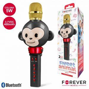 Microfone C/ Coluna 5W Bluetooth Bateria Modelo Macaco - (AMS-100BM)