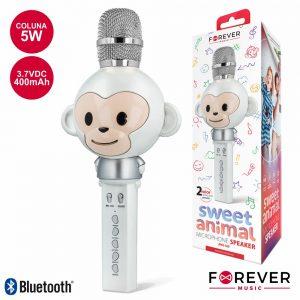 Microfone C/ Coluna 5W Bluetooth Bateria Modelo Macaco - (AMS-100WM)