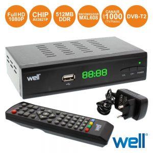 Receptor Tdt Full Hd 1080p Dvb-T2 C/ Função Pvr - (AMUSE-DVBT2)