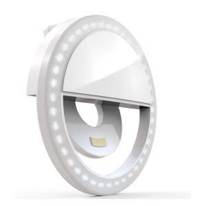 Anel de Luz P/ Telemóvel Universal Branco - (RINGCLIP01-WH)