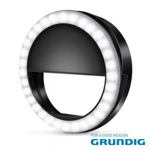 Ring Light P/ Telemóvel Universal Preto GRUNDIG - (10442)