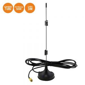 Antena Wifi Omnidirecional Vertical 2.4ghz 7dbi P/ Router 3m - (ANTWIFI016)
