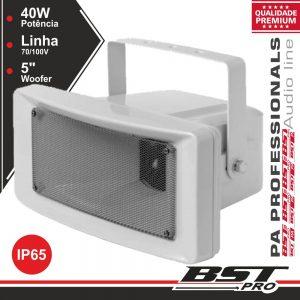 """Altifalante Corneta Pa 100v 40W 5"""" IP65 Abs Branco - (AP3640)"""