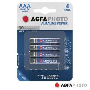 Pilha Alcalina LR03/AAA 1.5V 4x Blister POWER AGFAPHOTO - (APAAAA)