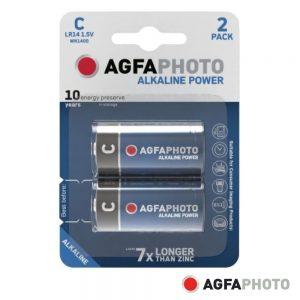 Pilha Alcalina LR14/C 1.5V 2x Blister POWER AGFAPHOTO - (APAC)