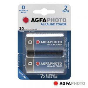Pilha Alcalina LR20/d 1.5V 2x Blister POWER AGFAPHOTO - (APAD)