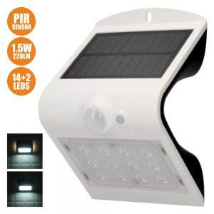 Aplique Exterior Solar C/ Sensor 1.5W 220lm Branco - (31841)