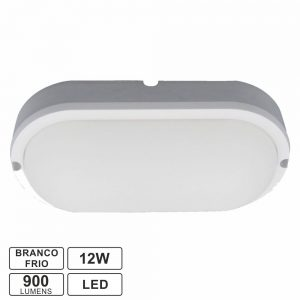 Painel LED Oval Aplique 12W 180mm 900lm Branco Frio - (APLOV1218CW)