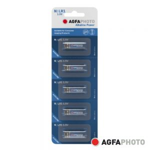 Pilha Alcalina LR1/N 1.5V 5x Blister POWER AGFAPHOTO - (APLR1B5)