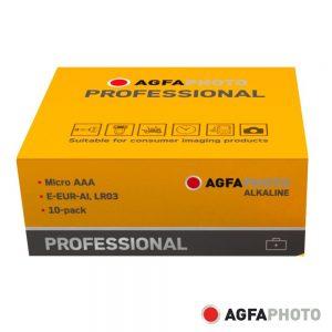 Pilha Alcalina AAA 1.5V 10x Industrial AGFAPHOTO - (APPAAAP10)