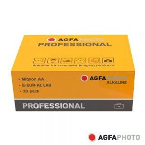 Pilha Alcalina AA 1.5V 10x Industrial AGFAPHOTO - (APPAAP10)