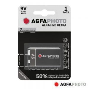 Pilha Alcalina 6LR61/9V 9V 1x Blister ULTRA AGFAPHOTO - (APU9V)