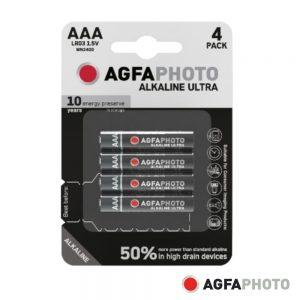 Pilha Alcalina LR03/AAA 1.5V 4x Blister ULTRA AGFAPHOTO - (APUAAA)