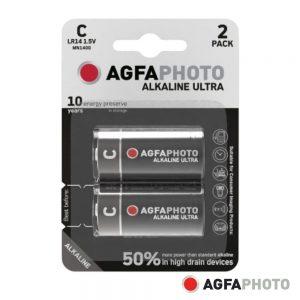 Pilha Alcalina LR14/C 1.5V 2x Blister ULTRA AGFAPHOTO - (APUC)