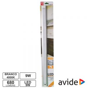Armadura LED C/ Sensor 9W 0.60mm 4000K 680lm AVIDE - (ABLSCAB-60NW-BL1)
