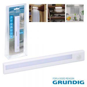 Armadura LED C/ Sensor 3000K 60lm GRUNDIG - (07449)