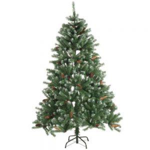 Árvore Natal 180cm C/ Pinhas E Neve - (XMAS619)
