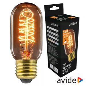 Lâmpada E27 T45 40W Filamento 2200K 140lm AVIDE Edison - (ASDE27-T45-40W)