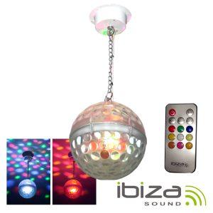 Bola De Espelhos 20cm C/ Motor 10 LEDS 1W RGBAW IBIZA - (ASTRO-BALL8)