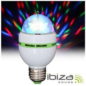 Lâmpada Rotativa 3 LEDS 1W RGB E27 IBIZA - (ASTRO-MICRO)