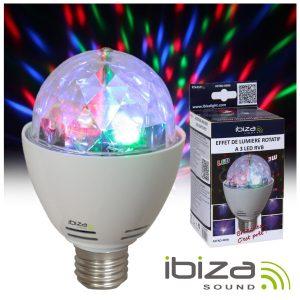 Lâmpada Rotativa 4 LEDS 1W RGB E27 IBIZA - (ASTRO-MINI)
