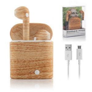 Auriculares Airpods Bluetooth V4.2 Estilo Madeira - (INVG196)