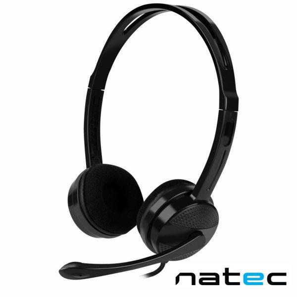 Auscultadores 2.0 Preto CANARY GO NATEC - (NSL-1665)