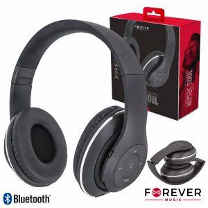 Auscultadores Bluetooth S/ Fios Stereo Pretos. - (BHS-300)