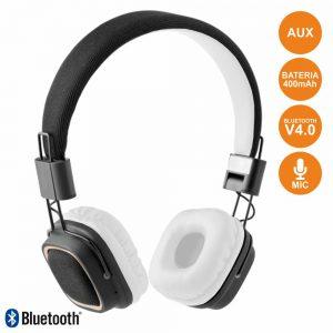 Auscultadores Bluetooth Stereo Mic Bat Brancos - (CAQ31-BTH-W)