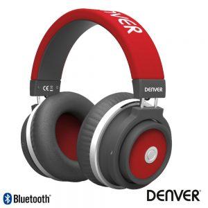 Auscultadores Bluetooth S/ Fios Aux Vermelho Mic DENVER ¨ - (BTH-250RED)