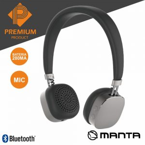 Auscultadores Bluetooth S/ Fios Stereo Diamond Premium MANTA - (HDP9004)