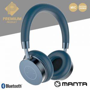 Auscultadores Bluetooth S/ Fios Stereo Saphire Premium MANTA - (HDP9006)