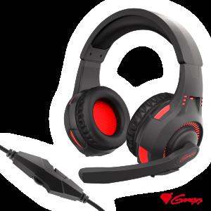 Auscultadores Gaming 7.1 Preto/Vermelho RADON 200 GENESIS - (NSG-1412)