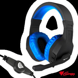 Auscultadores Gaming Preto/Azul ARGON 200 GENESIS - (NSG-0901)