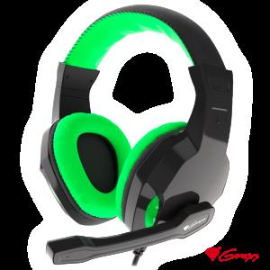 Auscultadores Gaming Preto/Verde ARGON 100 GENESIS - (NSG-1435)