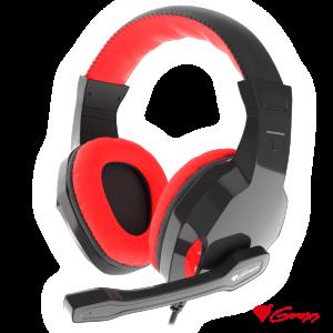 Auscultadores Gaming Preto/Vermelho ARGON 100 GENESIS - (NSG-1433)