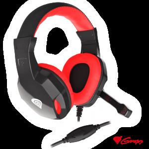 Auscultadores Gaming Preto/Vermelho ARGON 110 GENESIS - (NSG-1437)
