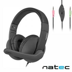 Auscultadores Stereo C/ Microfone NATEC - (NSL-1452)