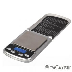 Mini Balança Digital De Precisão - 500 G / 0.1 G VELLEMAN - (VTBAL400)