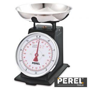 Balança Cozinha Analógica 5Kg C/ Recipiente PEREL - (VTBAL106)