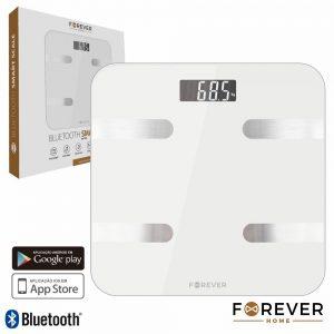 Balança Corporal Inteligente C/ Bluetooth Imc 180kg FOREVER - (AS-100WH)