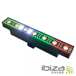 Barra De LEDS 3em1 C/ 7+72+96 LEDS Strobe DMX PoWercon IBIZA - (FXBAR70)