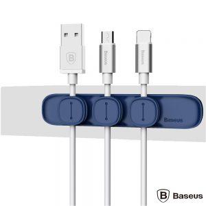 Barra Magnética P/ Organização 3 Cabos Azul BASEUS - (ACWDJ-03)