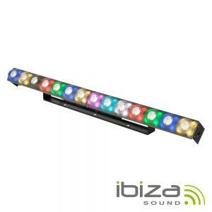 Barra De LEDS 2em1 C/ 14+56 LEDS Strobe DMX PoWercon IBIZA - (FXBAR140)
