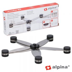 Base Em Inox P/ Tachos C/ Pés Borracha Alpina - (ALP383)