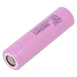 Pilha Lithium 18650 3.7V 3500MA 35E Recarregável SAMSUNG - (SG18650-35E)