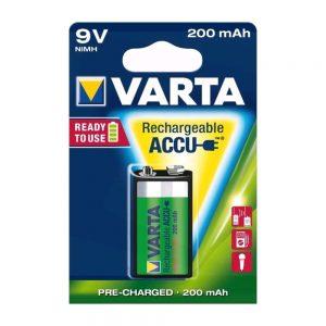 Bateria Ni-Mh 6HR61 9V 200mA VARTA - (VH9V-A200)