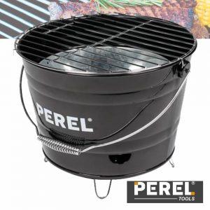 Grelhador A Carvão Tipo Balde C/ Alça Preto Perel - (BB100101)