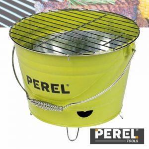 Grelhador A Carvão Tipo Balde C/ Alça Verde Lima PEREL - (BB100102)